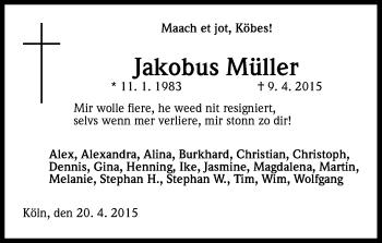 Zur Gedenkseite von Jakobus