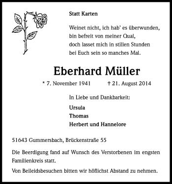 Zur Gedenkseite von Eberhard