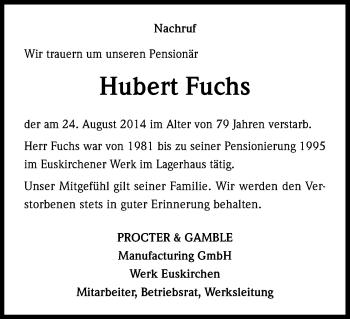 Zur Gedenkseite von Hubert