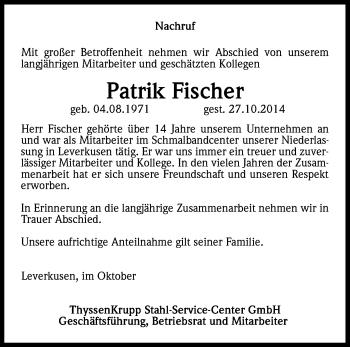 Zur Gedenkseite von Patrik