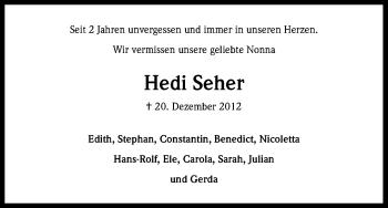 Zur Gedenkseite von Hedi
