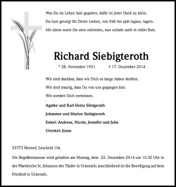 Zur Gedenkseite von Richard