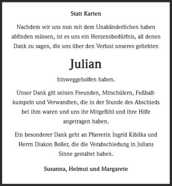 Zur Gedenkseite von Julian