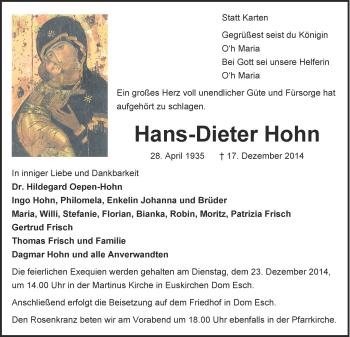 Zur Gedenkseite von Hans-Dieter