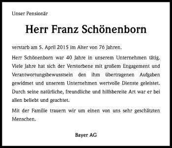Zur Gedenkseite von Franz