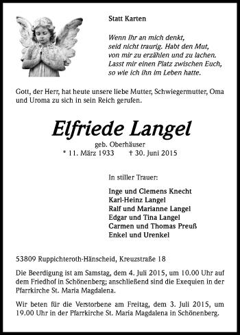 Zur Gedenkseite von Elfriede
