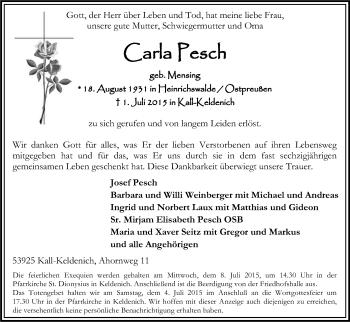 Zur Gedenkseite von Carla