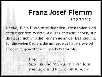 Zur Gedenkseite von Franz Josef