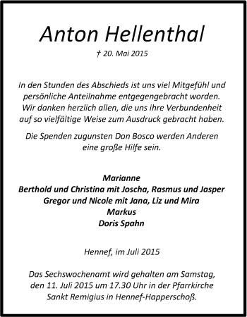 Zur Gedenkseite von Anton