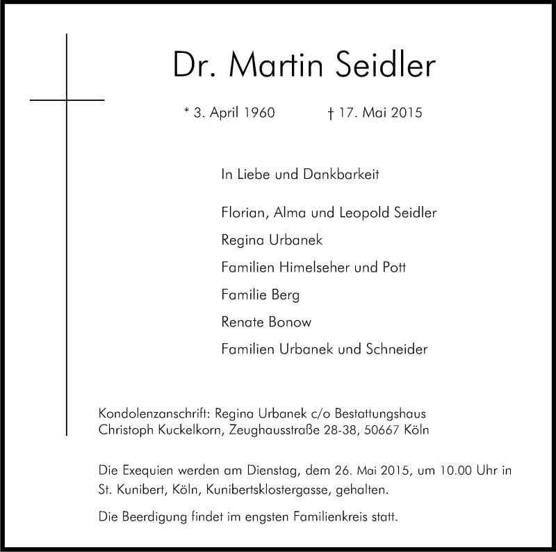 Martin Seidler Ehefrau