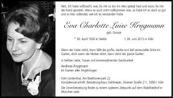 Zur Gedenkseite von Eva Charlotte Luise