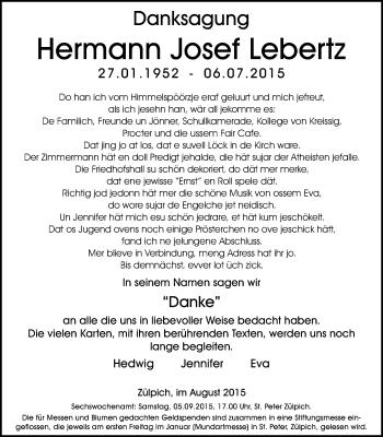 Zur Gedenkseite von Hermann Josef
