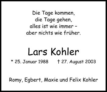 Zur Gedenkseite von Lars