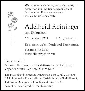 Zur Gedenkseite von Adelheid