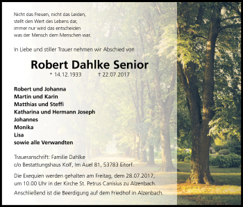 Robert  Dahlke Senior